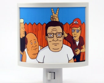 King of the Hill Night Light Hank Boomhauer Dale Bill arlen texas Mike Judge cartoon Gifts for TV lovers propane accessories I Tell You What