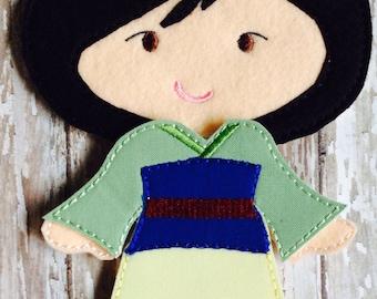 Princess Mulan Felt Doll Outfit