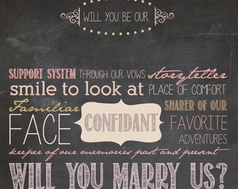Will You be Our Officiant?  - Printable Digital File