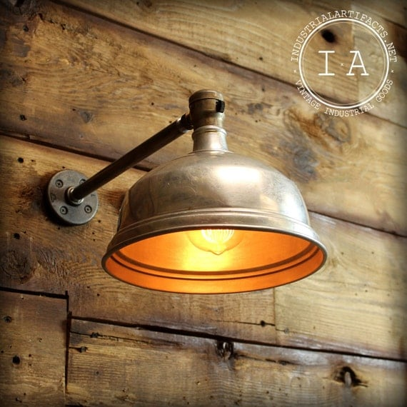 Workbench Lights Vintage: Vintage Industrial Overhead Wall Lamp Aluminum Shade Reading