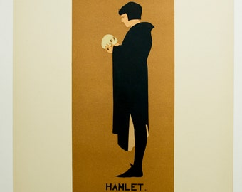 Beggarstaff, Original Maitres de L'Affiche Poster, Paris 1898, Plate No.107. Theatrical poster for a London performance of Hamlet.