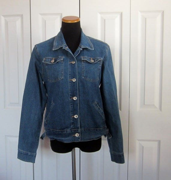 Items similar to Vintage Hipster Denim Jacket, Womens Size ...