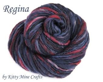 Handspun TnT Singles Yarn - Merino Wool - Regina - Thick and Thin, Bulky Yarn - Knitting Supplies