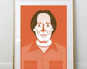 Theodore Donald Karabotsos // Big Lebowski Poster // Portrait // 11 x 17 // A3 // RIBBA 290 x 390mm