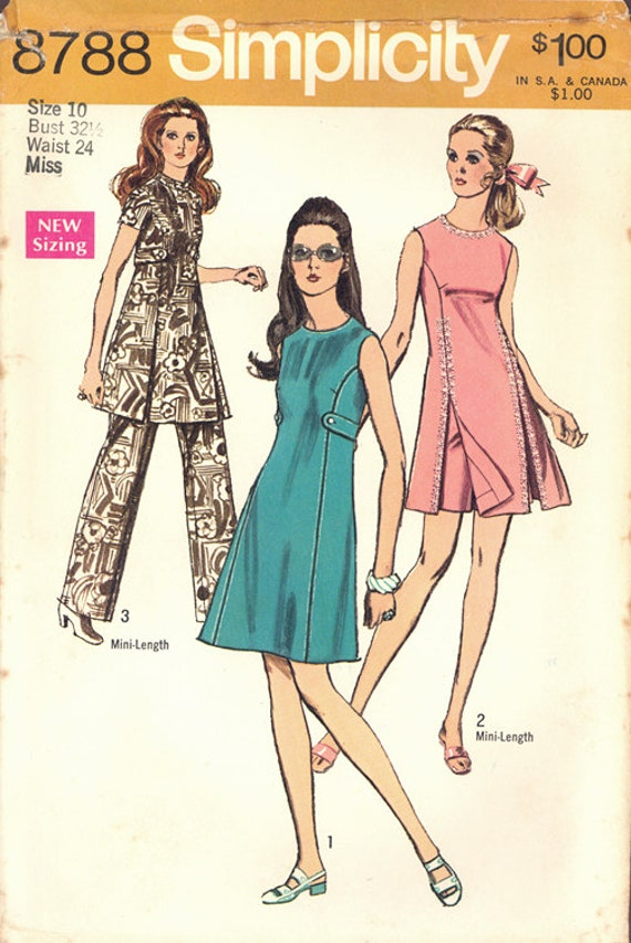 0cb7311c8 1970 Vintage Simplicity Pattern 8788