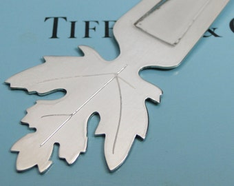 Tiffany & Co Maple Leaf Bookmark Vintage Sterling Silver RARE!