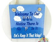 """Pool Sign - Welcome To Our OOL, POOL Sign, 7"""""""