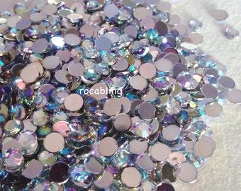 5mm clear AB rhinestones -500 or 1000 pieces - U.S. SELLER -  DIY, bling, flatback