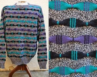 New Wave Stripes 90's Sweater Sz.M