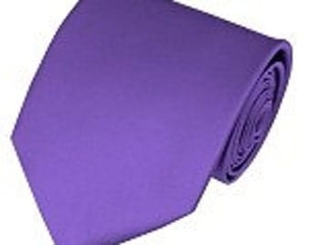 mens purple necktie custom made many colors