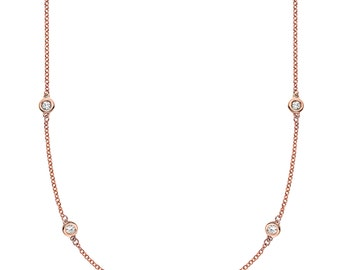 Endless Rose Gold & Diamond Necklace