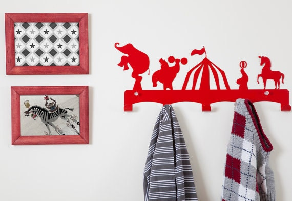 Circus Theme Kids Coat Hanger Kids Room Ideas By