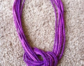 Purple Knoted Necklace