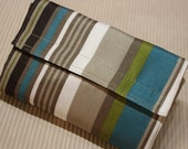 Reusable bag / grocery bag (Sand color with blue strips), mother's day
