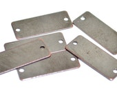 50 Pieces Copper Plated 8x20 mm Rectangular 2 Hole Stamping Tag