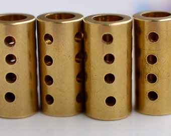 """6 Pieces Raw Brass 10x20 mm (25/64""""x 25/32"""" ) Industrial Punched Tube Spacers Connectors"""