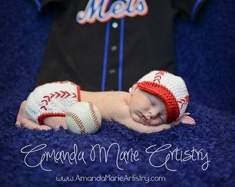 Baseball Hat & Diaper Cover Photography Prop Set