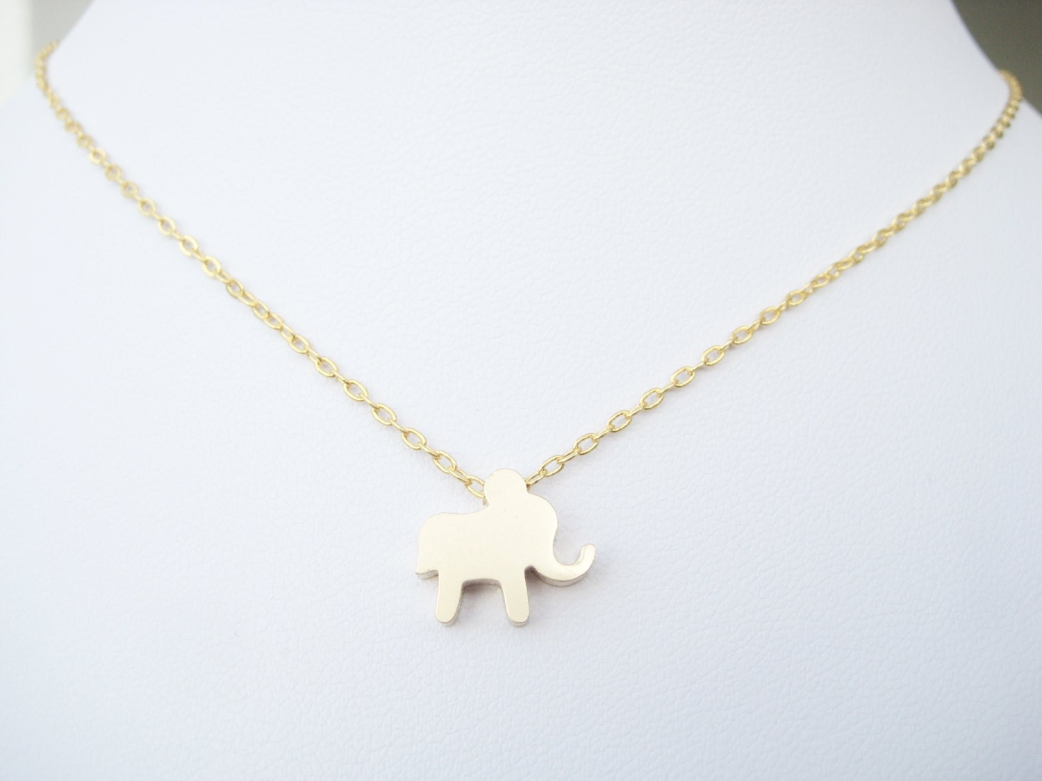 elephant necklace delicate gold jewelry gift for by
