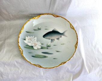 Rosenthal  Porcelain Plate Art Nouveau Copenhagen Fish Edwardian Era