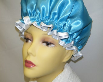 Turquoise Blue Shower Cap