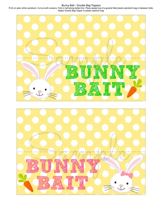 Insane image throughout bunny bait printable