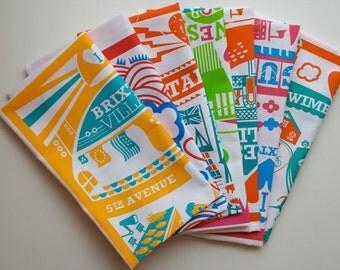 5 London tea towels