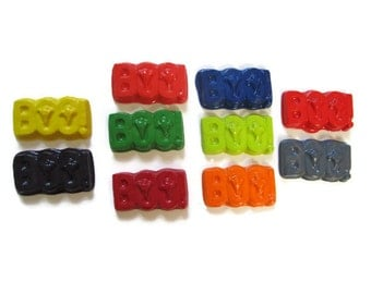 Boo Crayons set of 10 - Halloween Crayons - Party Favors