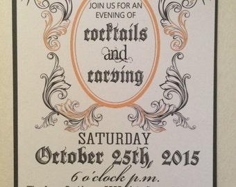 Halloween invitation (digital file)