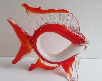 Murano Glass Fish Mid Century Modernist Style
