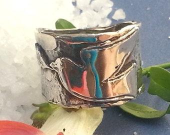 Dove ring, band ring, silver dove ring, Dove band ring, Judaica ring, Kabbalah ring, Israeli dove ring