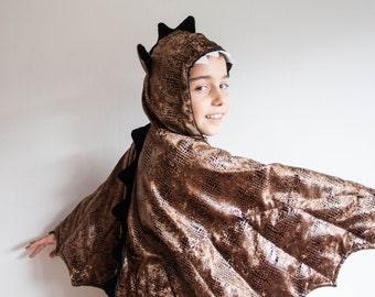 Kids Halloween Costume, Dragon Costume, Party Fairy Tale Dragon Costume, Dragon Skin,  Copper Brown,  Rosenmontag Kostüm