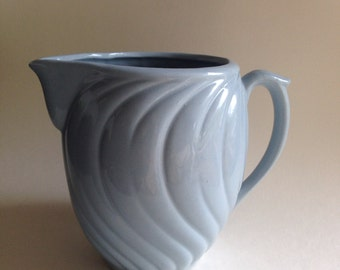 Vintage USA McCoy Pottery Pale Blue Pitcher