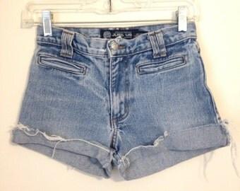 Light Wash High Waisted Denim Shorts