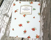 Red Roses Notebook French Journal in White Romantic Floral Notebook