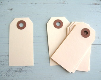 "25 Small Manila Parcel Tags 2 3/4"" x 1 3/8"" Gift Tags"