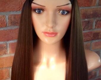 Stylish human hair bespoke wig  size 7yrs-13yrs chemo, alopecia