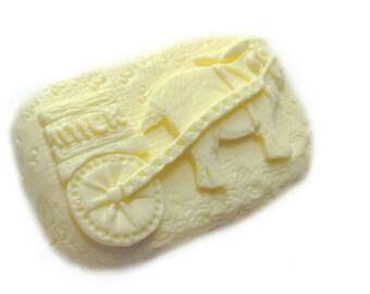 Primitive Goat Soap with a Milk Cart