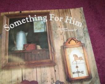 "Vintage 1983 ""Something For Him"" Craft Book by Ann Kingslan"