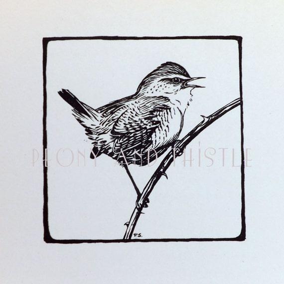 kuckuck vintage bird print schwarz wei bild geschenk f r. Black Bedroom Furniture Sets. Home Design Ideas