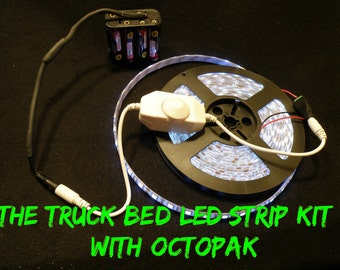 4 ft LED White Truck Bed Strip Light Kit 5050 WaterProof with Dimmer Switch and OctoPak TM