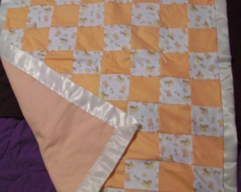 Personalized Hand-Stitched Baby Quilt