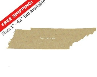 Unfinished Wooden Shapes (TENNESSEE)
