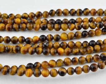 "16""  4mm  Tigereye   Round Beads"
