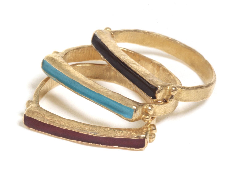 sale 14k gold stackable ring gold stacking ring solid gold. Black Bedroom Furniture Sets. Home Design Ideas