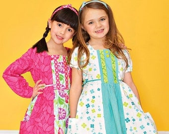 Pattern - Gretchen Euro-style Dress with Square Neckline - Paper Sewing Pattern by modkid designs