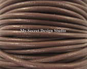 1mm, 2mm, 3mm, 4mm Round Leather Cord Chocolate Plum Qty.-in yard(s) you pick size (F1387 F1407 F1427 1441)