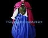 ANNA FROZEN Plus Size Halloween Costume Adult Womens 1X 2X 3X 4X 5X - 4 pcs New