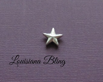 21 Pieces Star Beads, Star Bead,silver star beads,  14x14mm Antique Silver Finish  Metal Beads 19-1-AS