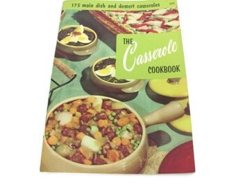 Vintage Casserole Recipe Booklet, 1950s Culinary Arts Institute, Vintage Cookbook, Pamphlets, 1950s Recipes