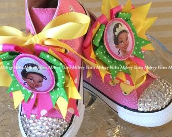 Princess Tiana Bling Converse shoes